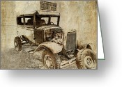 Vintage Photographs Greeting Cards - U.S. Mail Truck Greeting Card by Kathy Jennings