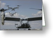 Osprey Photo Greeting Cards - U.s. Marine Corps Mv-22 Osprey Greeting Card by Stocktrek Images