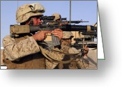 Suspicion Greeting Cards - U.s. Marines Sighting Greeting Card by Stocktrek Images