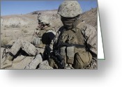 Taking A Break Greeting Cards - U.s. Marines Take A Break Greeting Card by Stocktrek Images