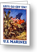 States Greeting Cards - US Marines Greeting Card by War Is Hell Store