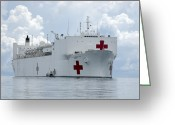 Assistance Greeting Cards - U.s. Naval Hospital Ship Usns Mercy Greeting Card by Stocktrek Images