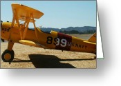 Diane Berry Digital Art Greeting Cards - US Navy biplane Greeting Card by Diane E Berry