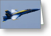 F-18 Greeting Cards - US Navy Blue Angels High Speed Pass Greeting Card by Dustin K Ryan