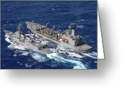 Frigate Greeting Cards - U.s. Navy Destroyer Uss Decatur Omes Greeting Card by Stocktrek Images