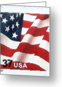 Postage Stamp Greeting Cards - U.s. Postage Stamp, 2003 Greeting Card by Granger