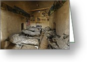 Mud Greeting Cards - U.s. Soldiers Sleep In An Abandoned Mud Greeting Card by Stocktrek Images