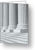 Washington D.c. Tapestries Textiles Greeting Cards - US Supreme Court Building IV Greeting Card by Clarence Holmes