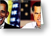 Mitt Greeting Cards - USAElections 2012 Greeting Card by Anthony Caruso