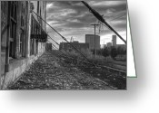Freight Greeting Cards - USAs Most Dangerous City Greeting Card by Jane Linders