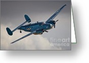Lockheed Hudson Greeting Cards - USN Lockheed Hudson Chino 2011 Greeting Card by Gus McCrea