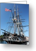 Frigate Greeting Cards - USS Constitution Greeting Card by Kristin Elmquist