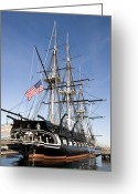 Harbors Greeting Cards - Uss Constitution Greeting Card by Tim Laman
