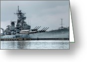 Warship Greeting Cards - USS New Jersey Greeting Card by Jennifer Lyon