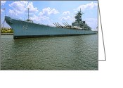 Delaware River Greeting Cards - USS New Jersey Greeting Card by Olivier Le Queinec