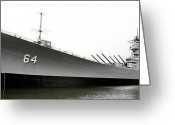 Christopher Holmes Photography Greeting Cards - USS Wisconsin - Port-Side Greeting Card by Christopher Holmes