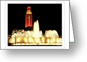 Clock Greeting Cards - UT Tower Poster Greeting Card by Marilyn Hunt