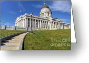 Legislature Greeting Cards - Utah Capitol Building - Salt Lake City Greeting Card by Gary Whitton