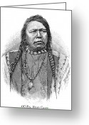 Ute Greeting Cards - Ute Head Chief, 1879 Greeting Card by Granger