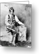 Ute Greeting Cards - UTE MAN, c1906 Greeting Card by Granger