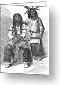 Ute Greeting Cards - Ute Native Americans, 1867 Greeting Card by Granger