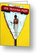 Ute Greeting Cards - Ute Trading Post Greeting Card by Glenda Zuckerman