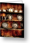 Kettle Greeting Cards - Utensils - In the Cupboard Greeting Card by Mike Savad