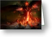 Nightmares Greeting Cards - Utherworlds Hellzunas Greeting Card by Philip Straub