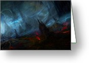 Nightmares Greeting Cards - Utherworlds Nightmist Greeting Card by Philip Straub