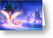 Dreams Greeting Cards - Utherworlds Ooulana Greeting Card by Philip Straub
