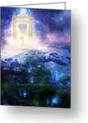 Gate Greeting Cards - Utherworlds Passage To Hope Greeting Card by Philip Straub
