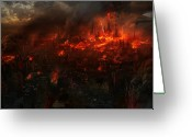 Fire Greeting Cards - Utherworlds Reckoning Day Greeting Card by Philip Straub