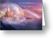 Fantasy Art Greeting Cards - Utherworlds Unohla Greeting Card by Philip Straub