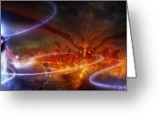 Dreams Greeting Cards - Utherworlds Waking Dream Greeting Card by Philip Straub
