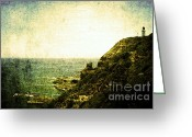 Lighthouse Greeting Cards - Utopia Greeting Card by Andrew Paranavitana