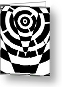 Learn To A Maze Greeting Cards - V Maze Greeting Card by Yonatan Frimer Maze Artist