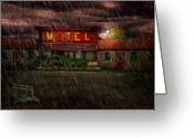 Motel Greeting Cards - Vacancy Greeting Card by Tom Mc Nemar