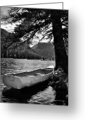 Isabel Greeting Cards - Vacant Dinghy Greeting Card by Kevin Munro
