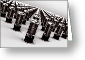 Tube Amp Greeting Cards - Vacuum Tubes Greeting Card by Edward Myers