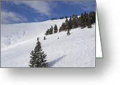 "\""colorado Resort\\\"" Greeting Cards - Vail Colorado Back Bowls Greeting Card by Brendan Reals"