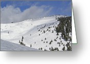 Colorado Mountains Greeting Cards - Vail Resort - Colorado - Blue Sky Basin Greeting Card by Brendan Reals