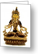 Buddhist Greeting Cards - Vajrasattva Greeting Card by Fabrizio Troiani