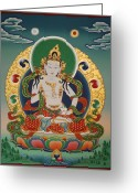 Thanka Greeting Cards - Vajrasattva Greeting Card by Sergey Noskov
