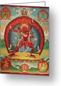Thanka Greeting Cards - Vajravarahi from Mongolian Kanjur Greeting Card by Sergey Noskov