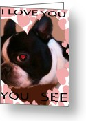 Valentine Tenderness Greeting Cards - Valentine Card 7 Greeting Card by Debra     Vatalaro