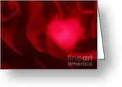 Sweetheart Greeting Cards - Valentine Heart Greeting Card by Tony Cordoza