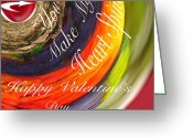 Gift For A Mixed Media Greeting Cards - Valentine Spine Card Greeting Card by Debra     Vatalaro