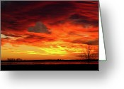 Colorado Photographers Greeting Cards - Valentines Day Sunrise Love in the Clouds Nature Image Greeting Card by James Bo Insogna