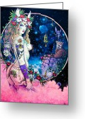 Magick Greeting Cards - Valkyrie Greeting Card by Keith Stillwagon