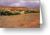 Figs Greeting Cards - Valley in the Atlas mountains Greeting Card by Ivan Slosar